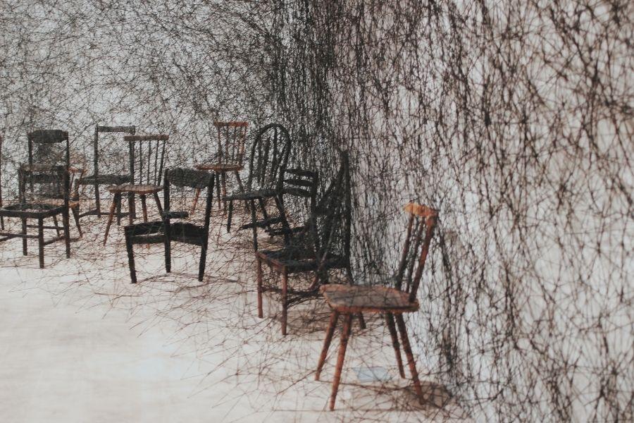 ▲「塩田千春展:魂がふるえる」__攝影:張逸帆@日本森美術館