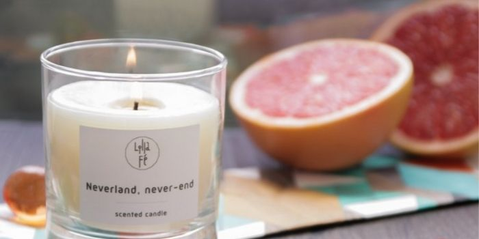 Lilla Fé永無止境的夢想島香水蠟燭,柑橘類香氣清新淡雅,緩解較重的氣味
