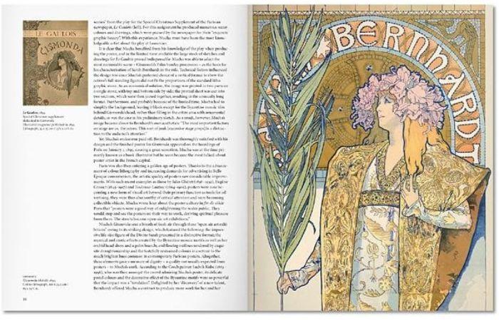 《Mucha》其中內頁,慕夏為戲劇 Gismonda 所描繪的劇場海報