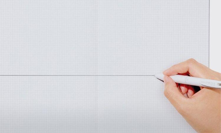子彈筆記使用方格再畫線上才方便