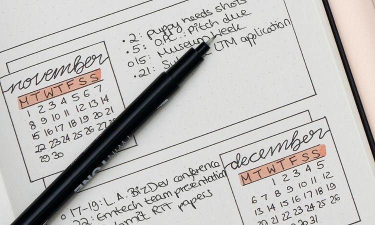 子彈筆記本規劃月目標