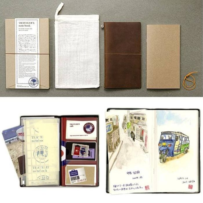 TRAVELER'S COMPANY Traveler's Notebook Leather Note/ Brown