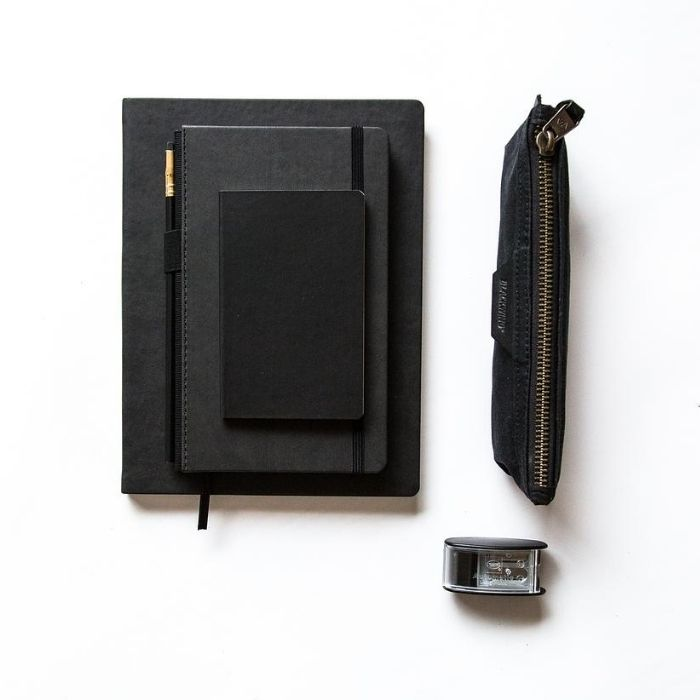 BLACKWING Black Clutch Notebook/ Dotted/ Set of 3