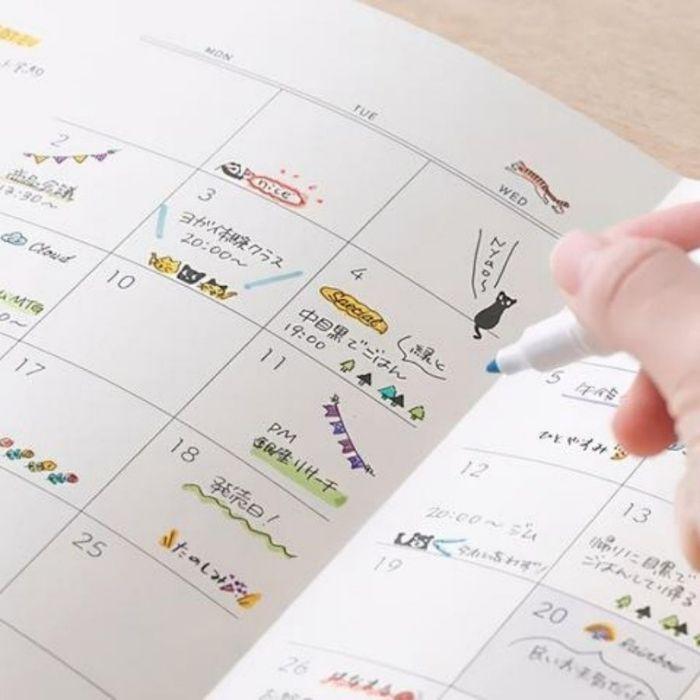 日本文具年度機能賞:MIDORI 手繪感旋轉印章