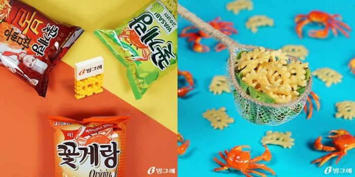 Binggrae 螃蟹饼乾:原味 / 芥末 / 火辣炒码