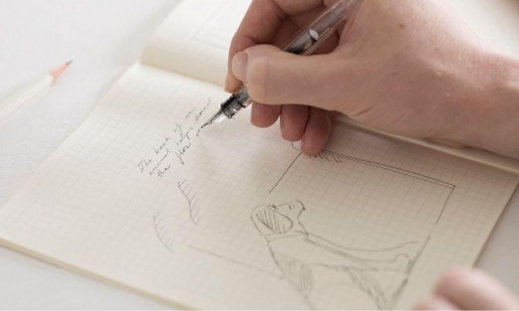 方便你繪製圖表的 Midori 方格筆記本