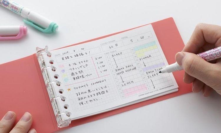 如果沒有方格筆記本,也可以考慮使用活頁紙