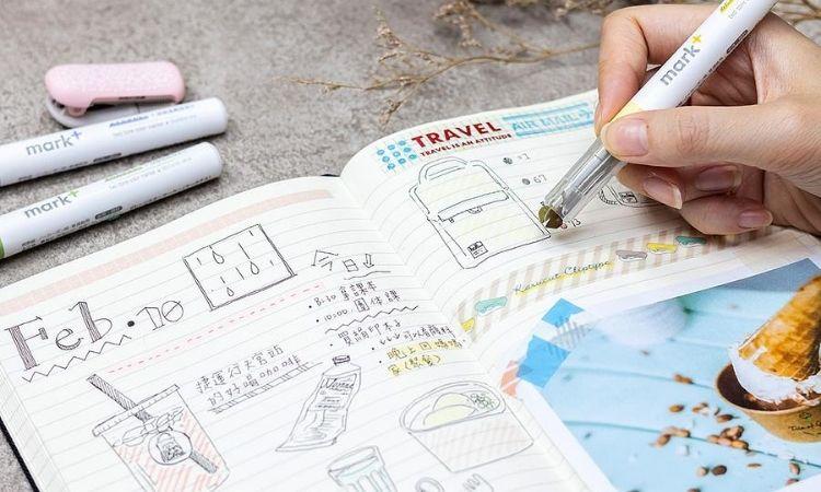 KOKUYO Mark+獨角仙同色螢光筆