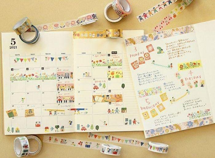 人物系纸胶带:日本美浓和纸