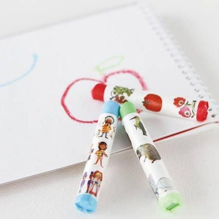 mt纸胶带装饰蜡笔