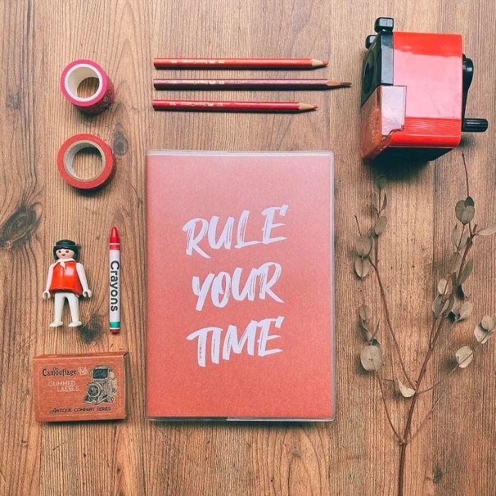 鋼筆書寫推薦筆記本Dimanche Rule Your Time頁碼筆記本