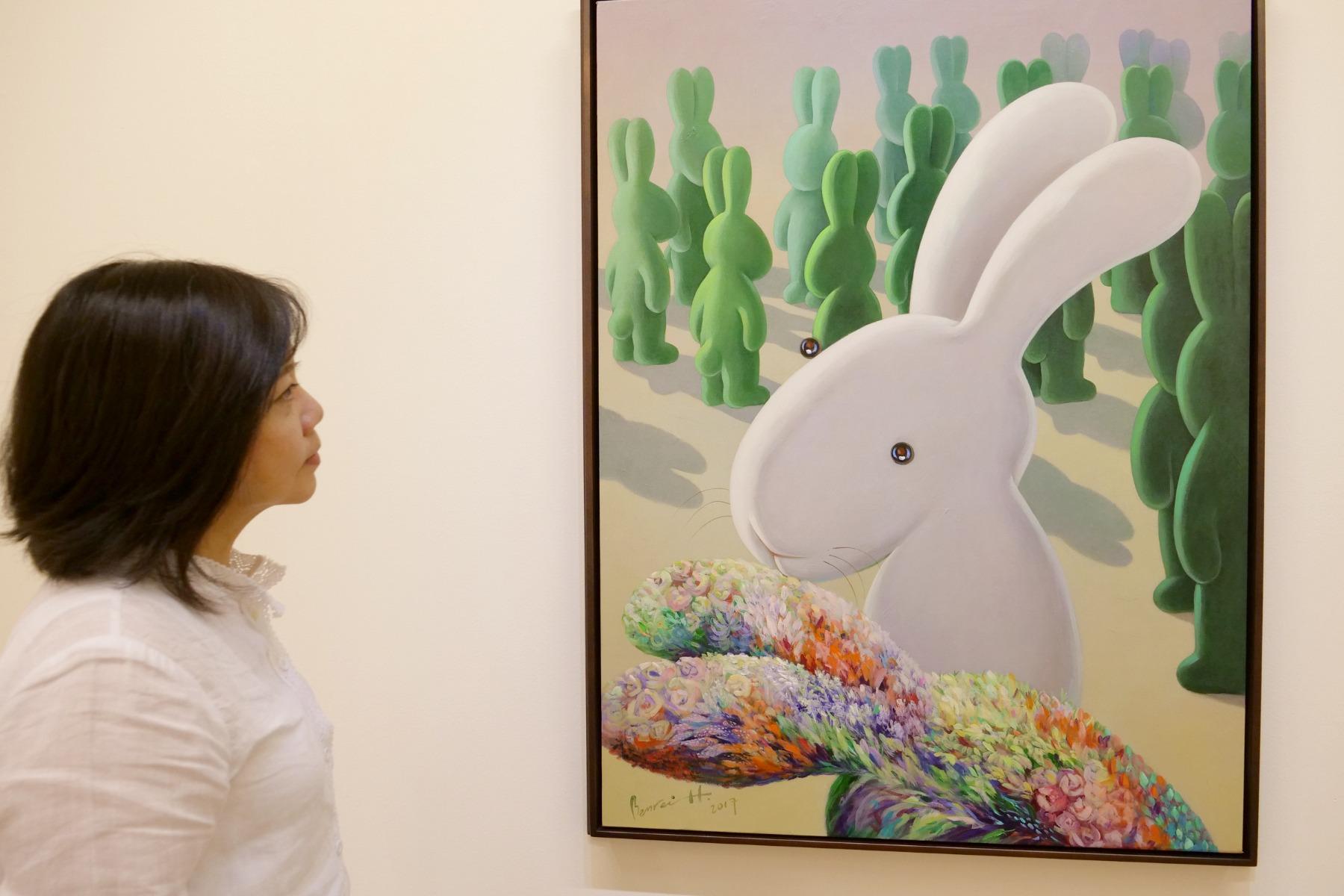 2018年,黃本蕊於誠品畫廊個展 「少數當家」現場