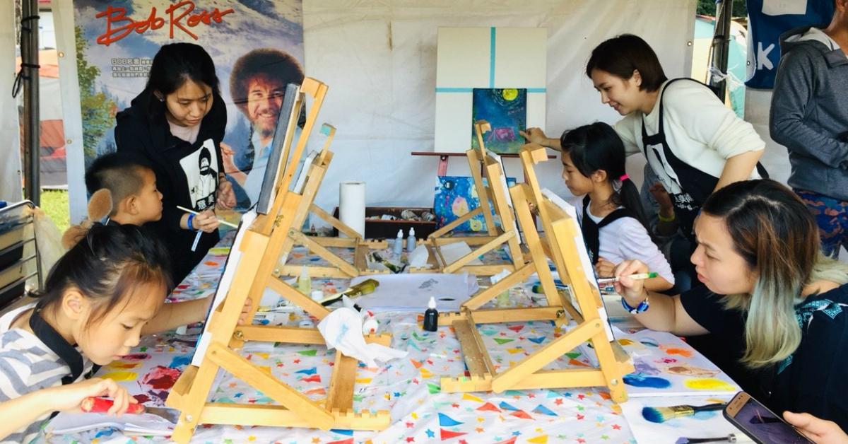 【手作質感研究室】- 跟著創意美術老師前進市集,首次戶外油畫體驗課開班啦!